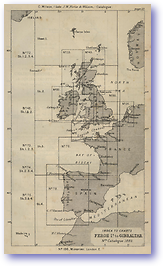 Faroe Island to Gibraltar - 1877 (Nories Navigation - Published: 1877)