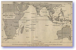 Indian Ocean - 1877 (Nories Navigation - Published: 1877)