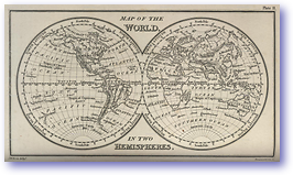 The World In Two Hemispheres - 1877 (Nories Navigation - Published: 1877)