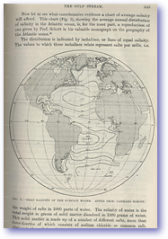 Atlantic Ocean Mean Salinity - 1914 (Geographical Journal - Published: 1914) 600 DPI