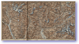 Area from Lukmanier to Maloja - 1881 (Switzerland - Published: 1881) 600 DPI