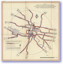 Density of Scottish Bus Group Services - 1951 (Passenger Transport in Glasgow and District - Published: 1951) 600 DPI