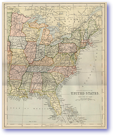 Eastern United States - 1870 (Gallery of Geography - Published: 1870)