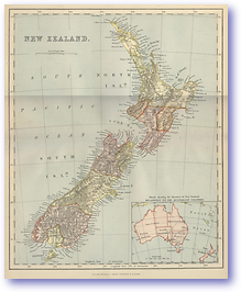New Zealand - 1870 (Gallery of Geography - Published: 1870)