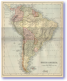 South America - 1881 (Gallery of Geography - Published: 1882) 600 DPI