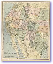Western United States - 1870 (Gallery of Geography - Published: 1870)