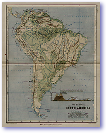 Geology The Mountains of South America - 1852 (Keith Johnsons Physical School Atlas - Published: 1852)