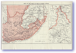The Seat of War in South Africa - 1900 (From Capetown to Ladysmith - Published: 1900) 300 DPI