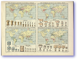 The World Commodities - 1920 (Peoples' Atlas - Published: 1920) 600 DPI