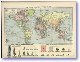 The World Colonial Powers in 1919 - 1919 (Peoples' Atlas - Published: 1920) 600 DPI