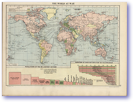 The World At War - 1914 - 1918 (Peoples' Atlas - Published: 1920) 600 DPI