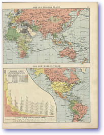 The Old and New World Trade - 1920 (Peoples' Atlas - Published: 1920) 600 DPI