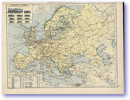 Europe Communications - 1920 (Peoples' Atlas - Published: 1920) 600 DPI