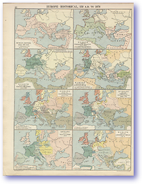 Europe Historical - 150 - 1878 (Peoples' Atlas - Published: 1920) 600 DPI