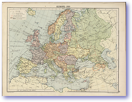Europe After The Great War 1919 - 1919 (The Peoples Atlas - Published: 1920)