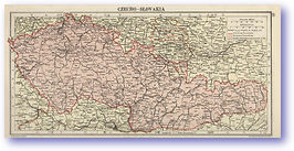 Czecho Slovakia - 1920 (Peoples' Atlas - Published: 1920) 600 DPI