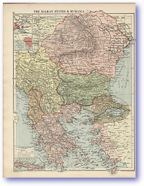 The Balcan States and Rumania - 1920 (The Peoples Atlas - Published: 1920)