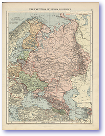 The Partition of Russia In Europe - 1920 (The Peoples Atlas - Published: 1920)