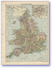 England and Wales - 1920 (The Peoples Atlas - Published: 1920)