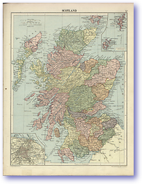 Scotland - 1920 (Peoples' Atlas - Published: 1920) 600 DPI