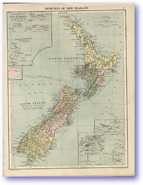 Dominion of New Zealand - 1920 (Peoples' Atlas - Published: 1920) 600 DPI