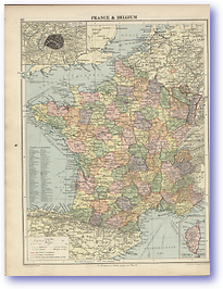 France and Belgium - 1920 (Peoples Atlas - Published: 1920)