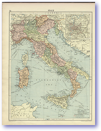 Italy - 1920 (Peoples' Atlas - Published: 1920) 600 DPI