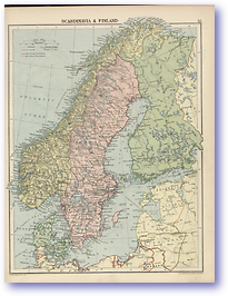 Scandinavia and Finland - 1920 (The Peoples Atlas - Published: 1920)