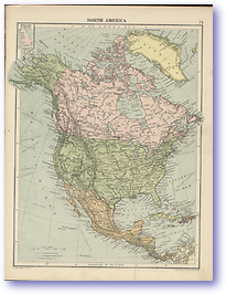 North America - 1920 (Peoples' Atlas - Published: 1920) 600 DPI