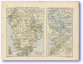 The Conquest of The German Colonies - 1920 (Peoples' Atlas - Published: 1920) 600 DPI