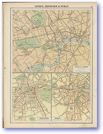 London Edinburgh Dublin - 1920 (Peoples' Atlas - Published: 1920) 600 DPI