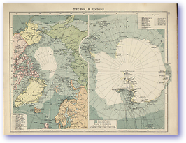 The Artic and Antarctica - 1920 (Peoples' Atlas - Published: 1920) 600 DPI