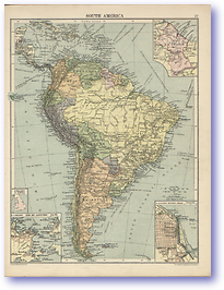 South America - 1920 (Peoples' Atlas - Published: 1920) 600 DPI