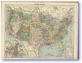 United States of America - 1920 (The Peoples Atlas - Published: 1920)