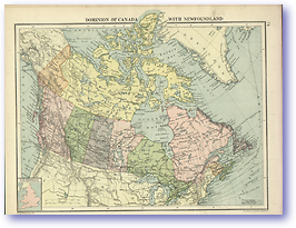 Dominion of Canada With Newfoundland - 1920 (Peoples' Atlas - Published: 1920) 600 DPI