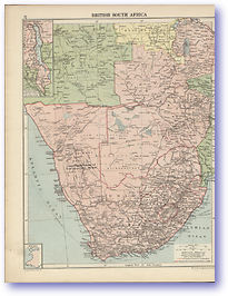 British South Africa - 1920 (Peoples' Atlas - Published: 1920) 600 DPI
