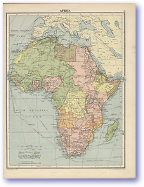 Africa - 1920 (Peoples' Atlas - Published: 1920) 600 DPI