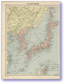Japenese Empire - 1920 (Peoples' Atlas - Published: 1920) 600 DPI