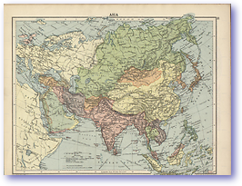 Asia - 1920 (The Peoples Atlas - Published: 1920)