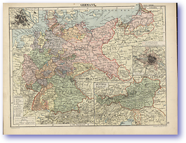 Germany and Austria - 1920 (Peoples' Atlas - Published: 1920) 600 DPI
