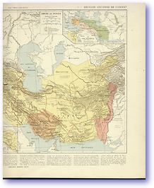 Persian Empire - 550 BC - 1100 AD (Atlas General Histoire et Geographie - Published: 1912) 600 DPI