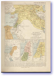 History of the Hebrews - 9th Century BC - 30 AD (Atlas General Histoire et Geographie - Published: 1912) 600 DPI