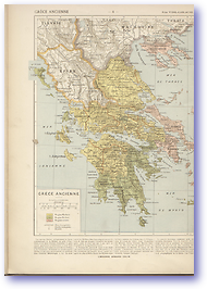 Ancient Greece - Circa 100 BC (Atlas General Histoire et Geographie - Published: 1912) 600 DPI