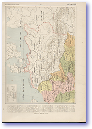 Ancient Germany - Circa 2nd Century (Atlas General Histoire et Geographie - Published: 1912) 600 DPI