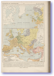 Expansion of Christianity - Circa 2nd - 7th Century (Atlas General Histoire Et Geographie - Published: 1912)