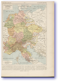 Roman Germany - 10th - 13th Century (Atlas General Histoire et Geographie - Published: 1912) 600 DPI