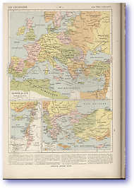 The Crusades - 1270 (Atlas General Histoire et Geographie - Published: 1912) 600 DPI