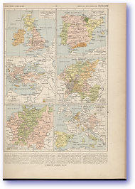 Europe - 14th - 16th Century (Atlas General Histoire et Geographie - Published: 1912) 600 DPI