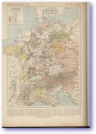 30 Years War Germany - 1618 - 1648 (Atlas General Histoire et Geographie - Published: 1912) 600 DPI