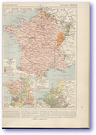 France - 17th Century (Atlas General Histoire et Geographie - Published: 1912)